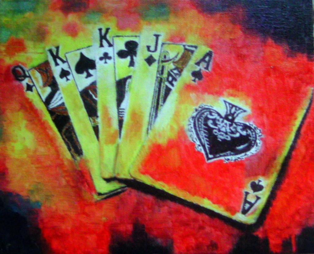 kártyás olaj kép