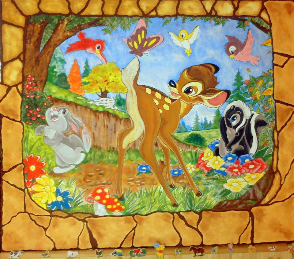 Teljes mesefal Bambival