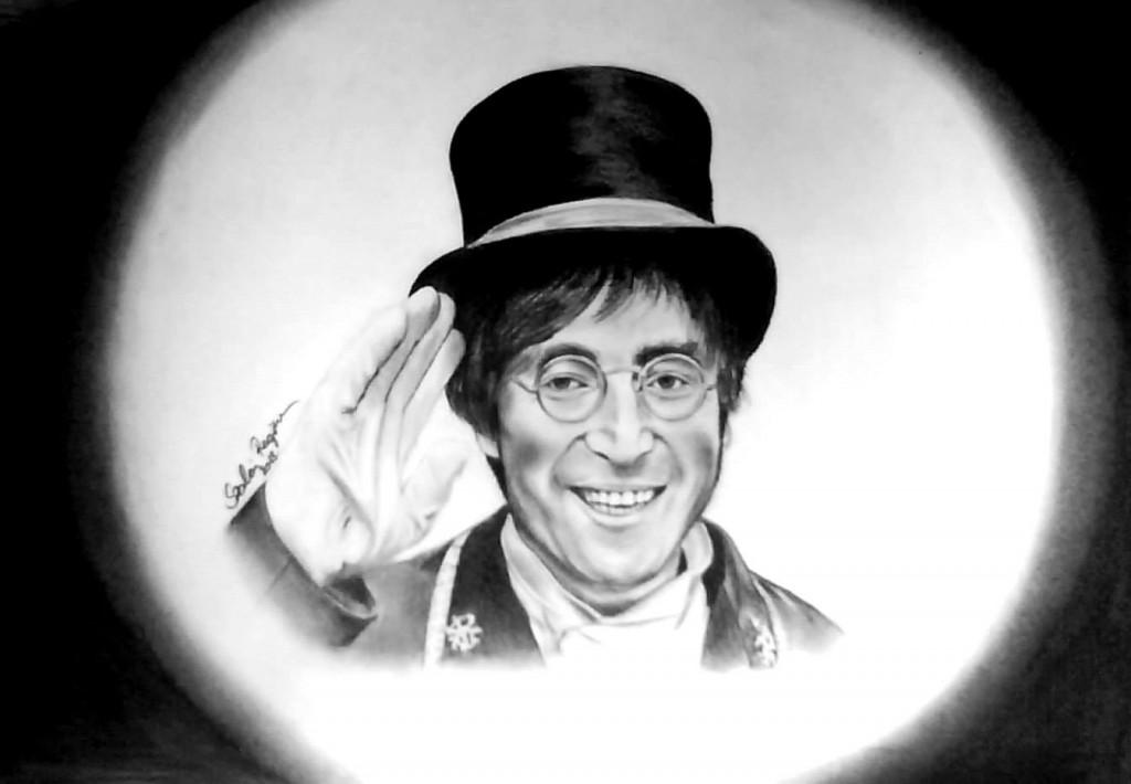 Grafika: John Lennon portré