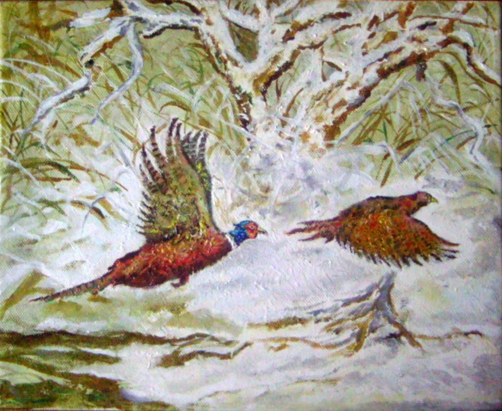 tájkép madarakkal