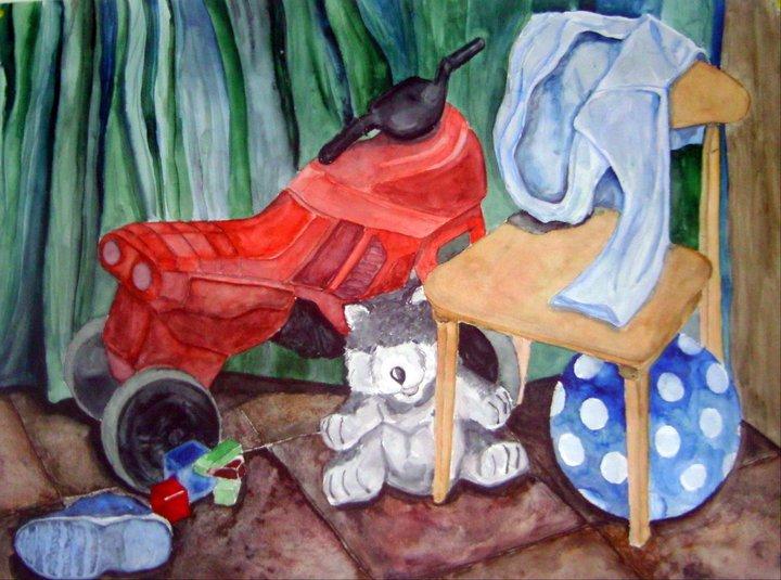 festmény - játék sarok