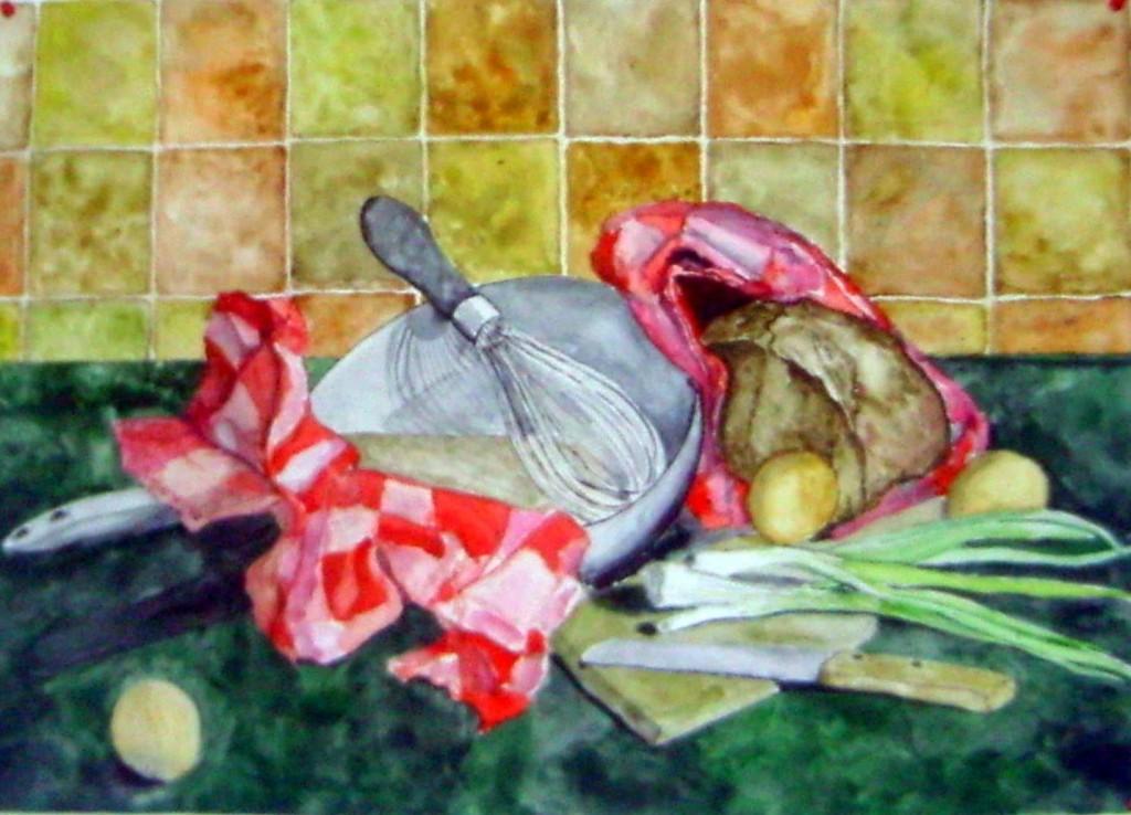 festmény - konyha