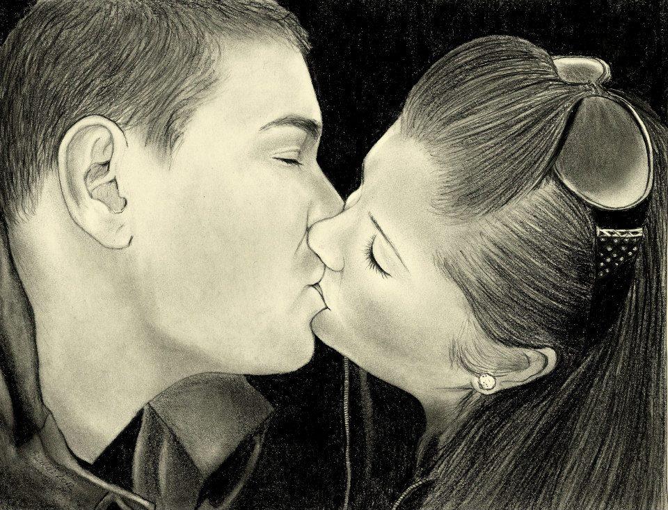 grafika portré Öcsém barátnőjével