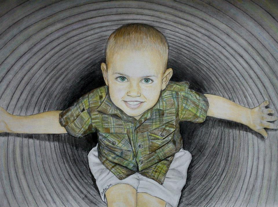 Színes portré a kis fiamról