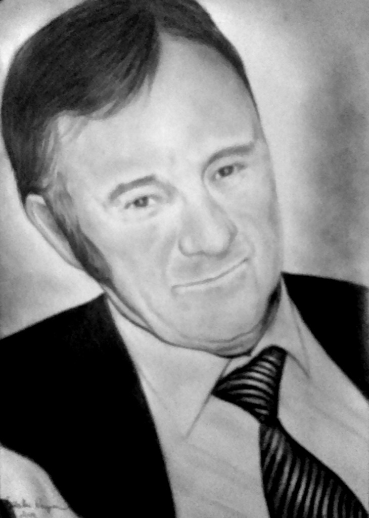 grafika, férfi portré
