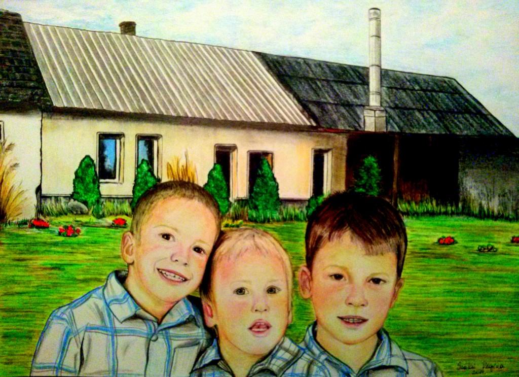 festmény gyerekcsoport