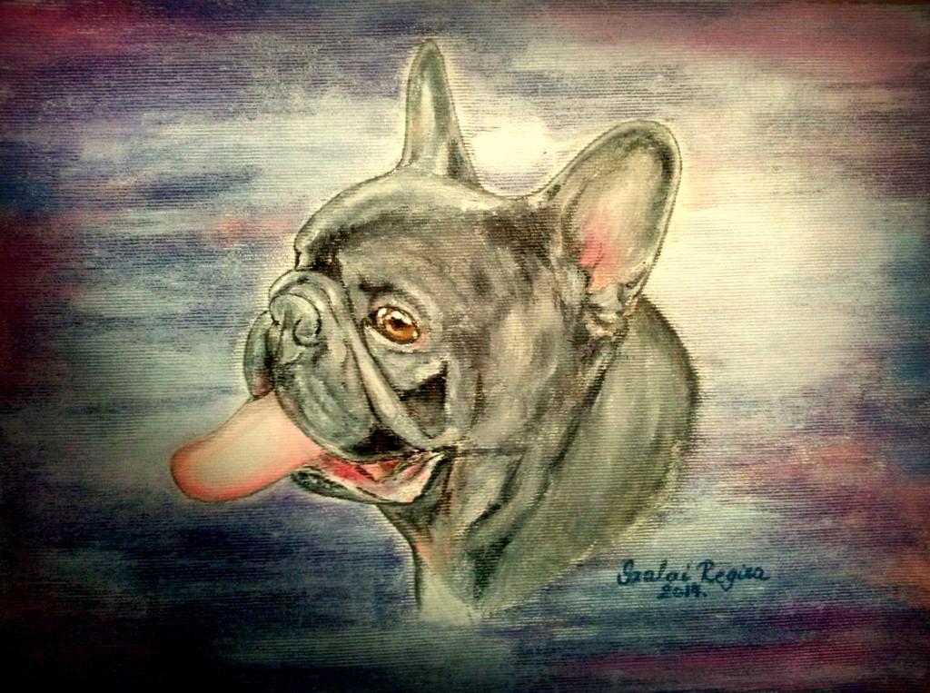 olaj festmény kutya portré
